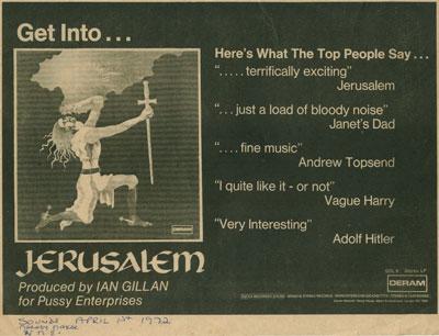 Jerusalem ad